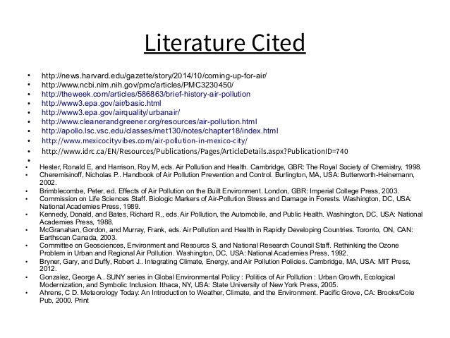Literature Cited ● http://news.harvard.edu/gazette/story/2014/10/coming-up-for-air/ ● http://www.ncbi.nlm.nih.gov/pmc/arti...