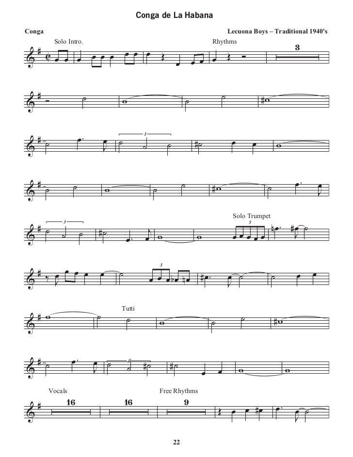 All Music Chords free trumpet solo sheet music : Gabriel rosati salsa latin trumpet book