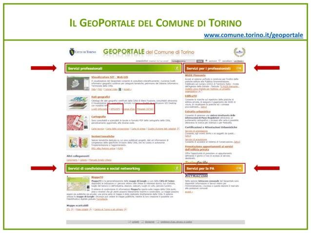 www.comune.torino.it/geoportale IL GEOPORTALE DEL COMUNE DI TORINO
