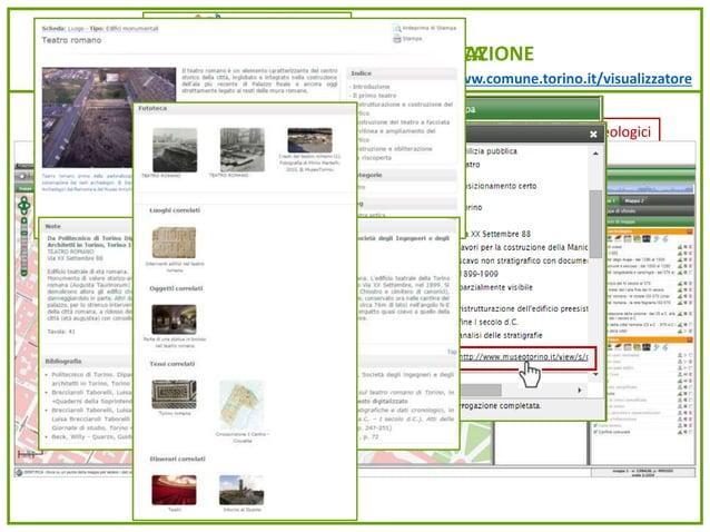 www.comune.torino.it/visualizzatore IL VISUALIZZATORE E LA NAVIGAZIONELA CARTA ARCHEOLOGICA Beni vincolati – Siti protetti...