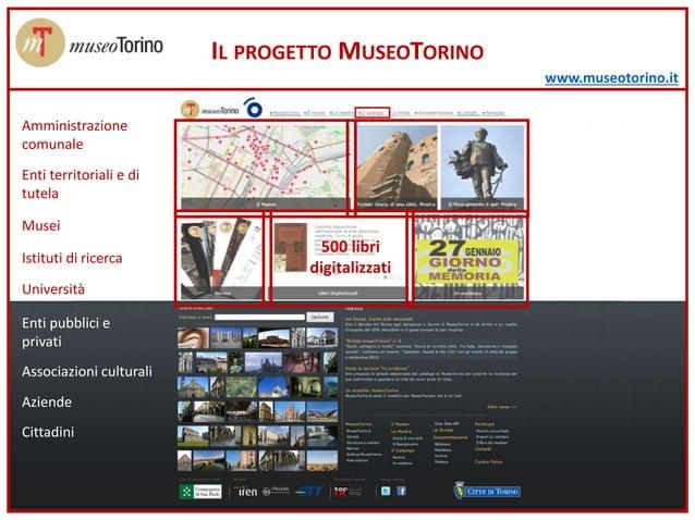 www.museotorino.it 500 libri digitalizzati IL PROGETTO MUSEOTORINO Amministrazione comunale Musei Enti territoriali e di t...