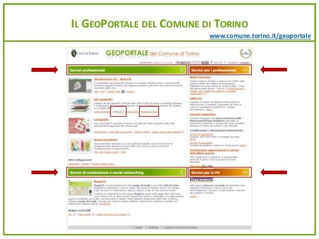 www.comune.torino.it/geoportale I DATI CERTIFICATI E LA LORO NAVIGAZIONE