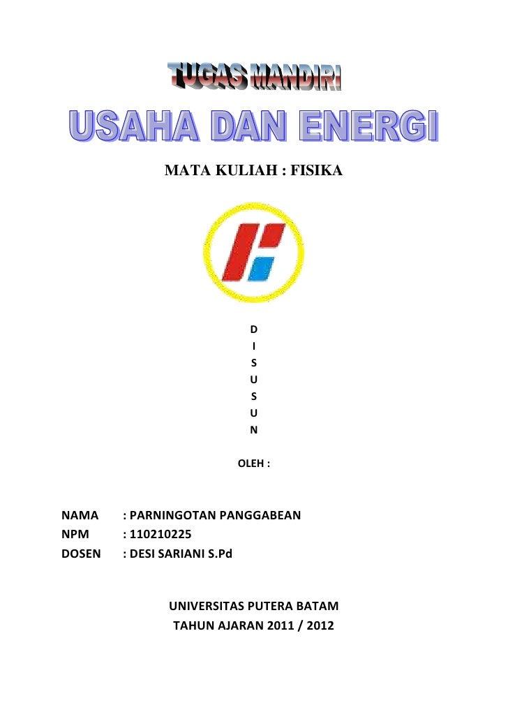 Makalah Usaha Dan Energi