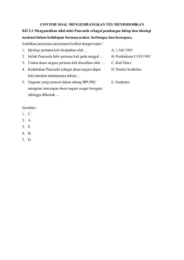 Soal Evaluasi Pengajaran