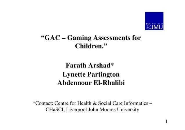 Gac - Gaming Assessments for Children