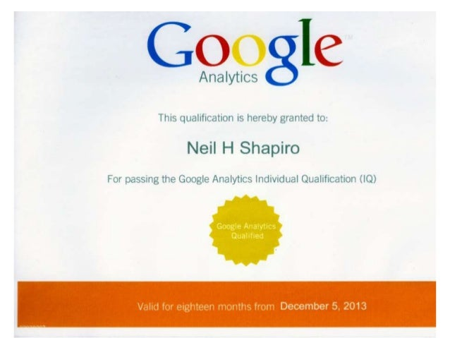 google analytics certificate individual qualification slideshare upcoming