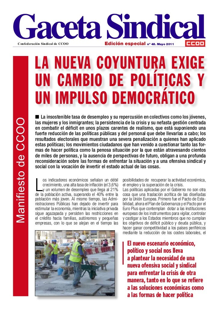 Confederación Sindical de CCOO                               Edición especial           nº 48. Mayo 2011                  ...