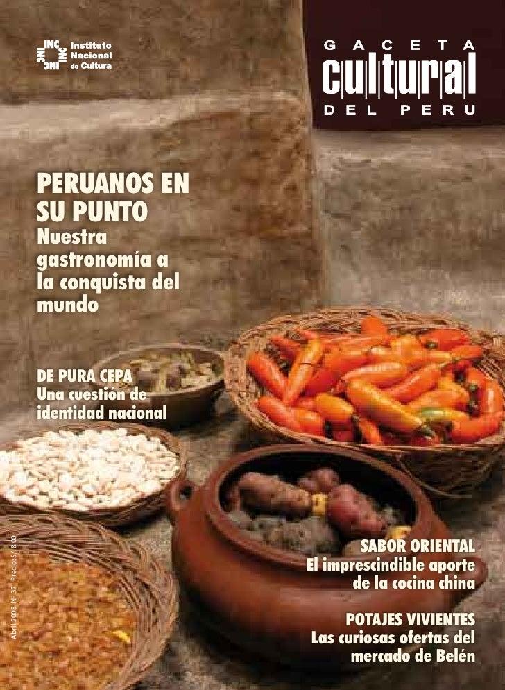 Gaceta 32 peruanos en su punto