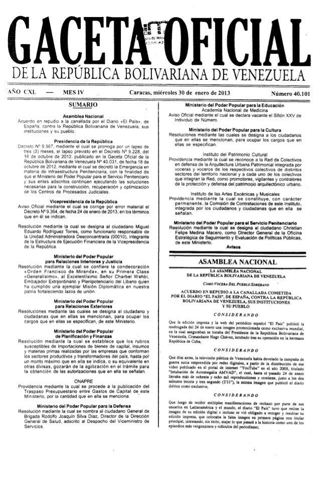 Gaceta No. 40.101