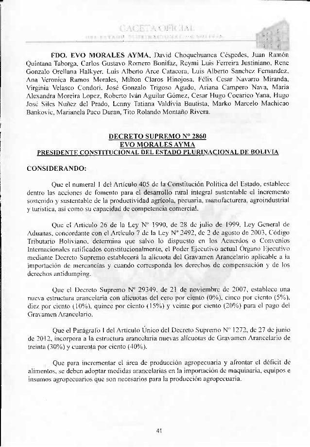 DECRETO SUPREMO Nº 2860