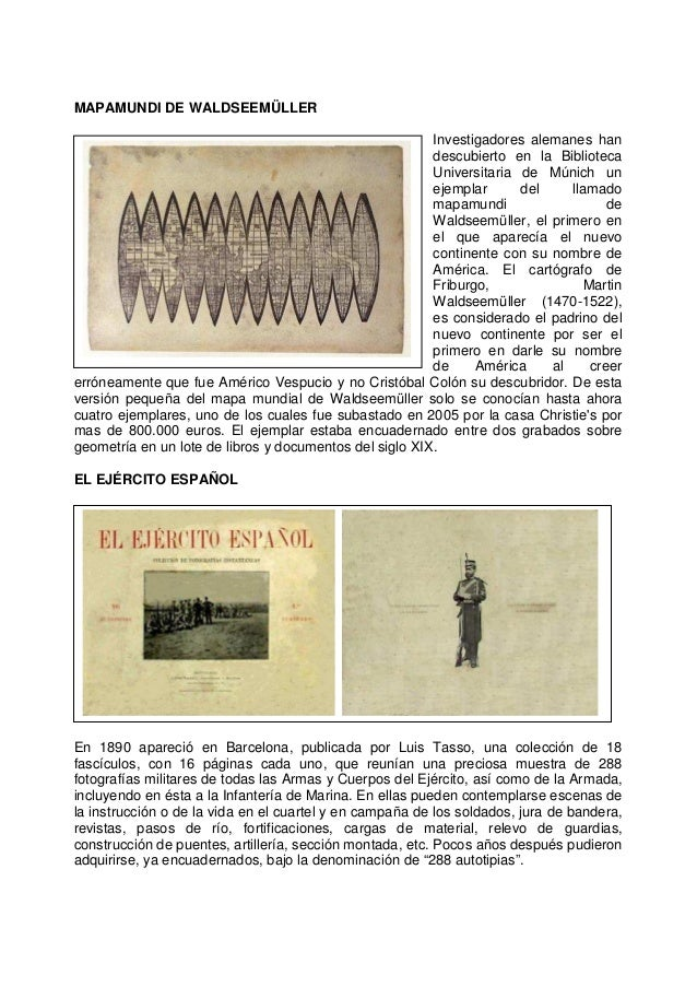 MAPAMUNDI DE WALDSEEMÜLLER Investigadores alemanes han descubierto en la Biblioteca Universitaria de Múnich un ejemplar de...