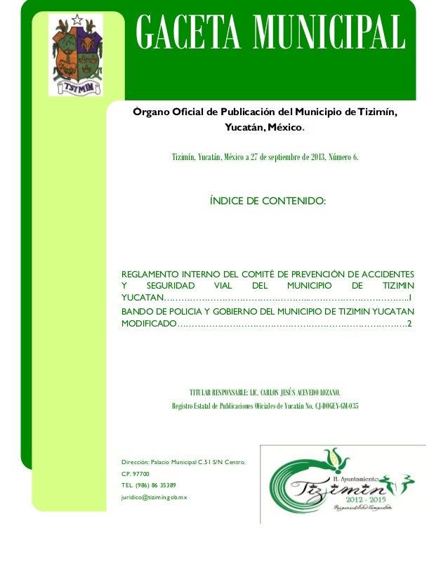 INTEGRANTES DEL CABILDO C.P. MARIA DEL ROSARIO DIAZ GONGORA ÍNDICE DE CONTENIDO: REGLAMENTO INTERNO DEL COMITÉ DE PREVENCI...