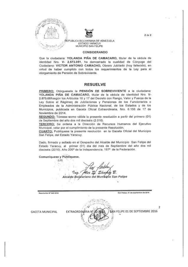 Gaceta municipal extraordinaria 32 2016