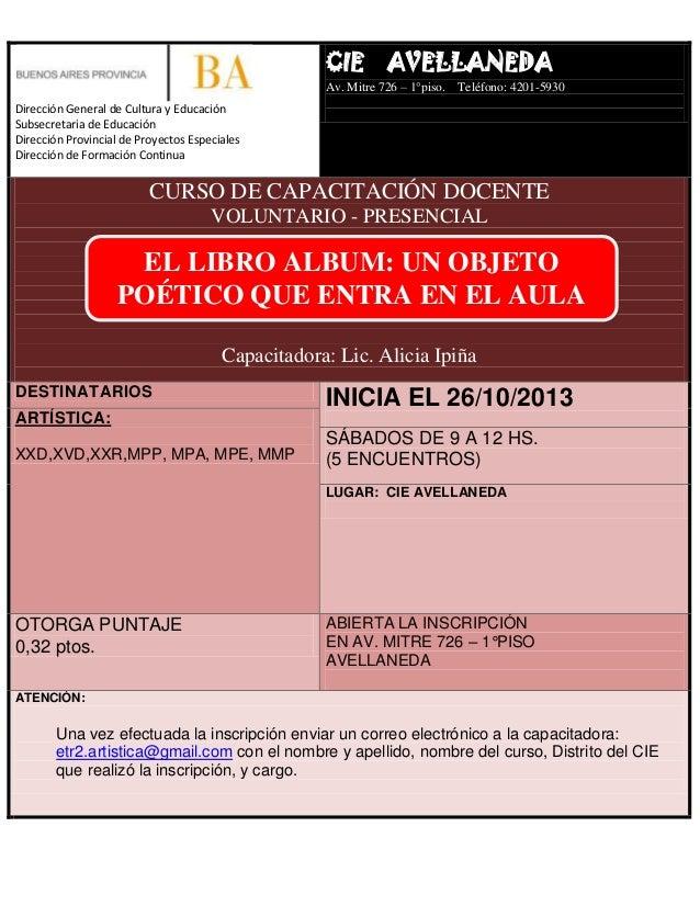 Curso cie avellaneda el libro album un objeto po tico for Municipalidad de avellaneda cursos