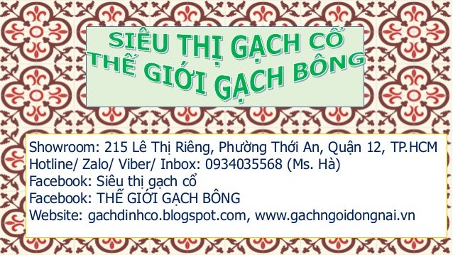 Showroom: 215 Lê Thị Riêng, Phường Thới An, Quận 12, TP.HCM Hotline/ Zalo/ Viber/ Inbox: 0934035568 (Ms. Hà) Facebook: Siê...