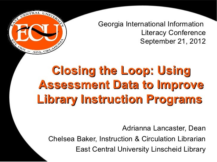 Georgia International Information                             Literacy Conference                             September 21...