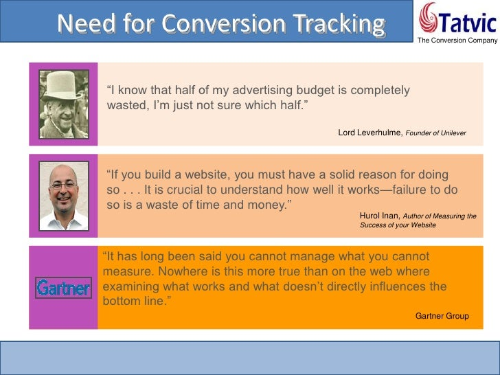Conversion Tracking with Google Analytics Slide 3