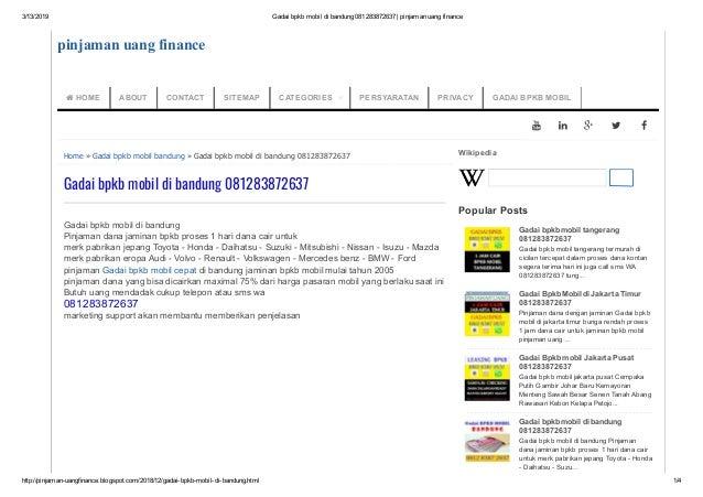 3/13/2019 Gadaibpkbmobildibandung081283872637|pinjamanuangfinance http://pinjamanuangfinance.blogspot.com/2018/1...