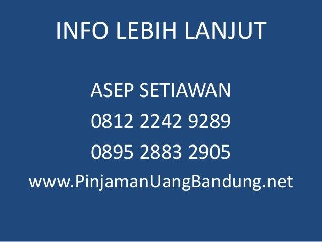 0812 2242 9289 Gadai BPKB Motor Tanpa Survey di Bandung Slide 3