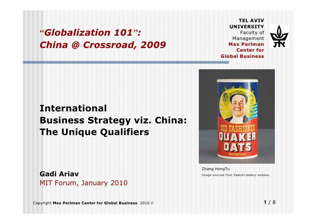 "TEL AVIV                                                                         UNIVERSITY   ""Globalization 101"":        ..."