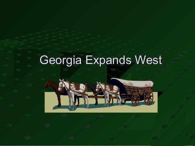 Georgia Expands West