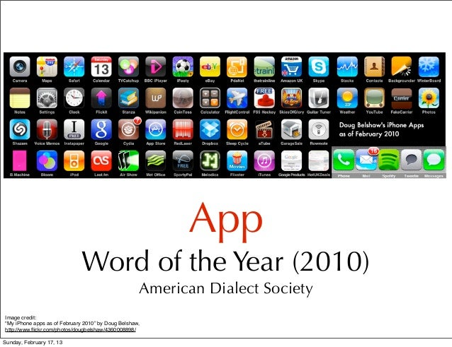 There's an app for that! Slide 2