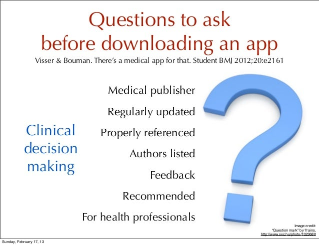 There's an app for that! Slide 3