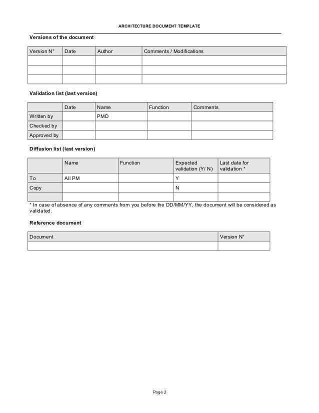 Architecture Document Template