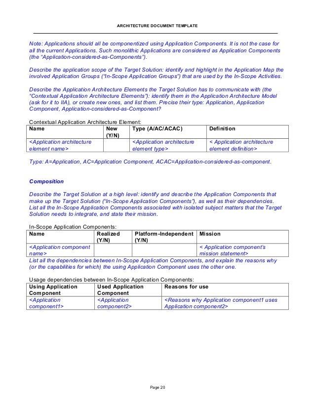 application documentation template