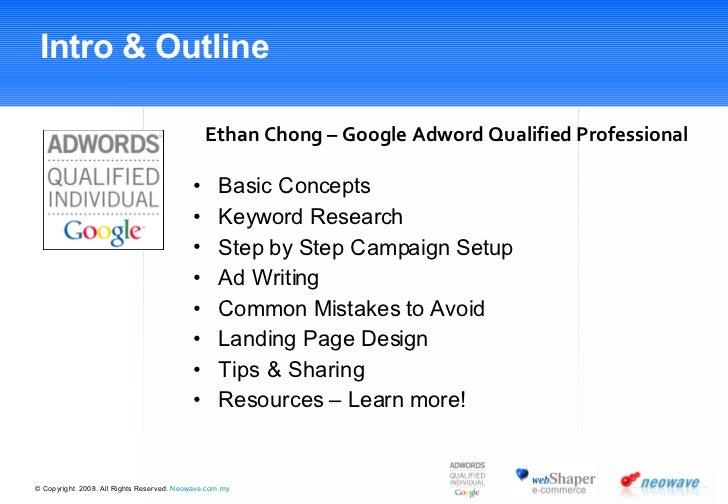Google Adwords - Kick Start Course Slide 2