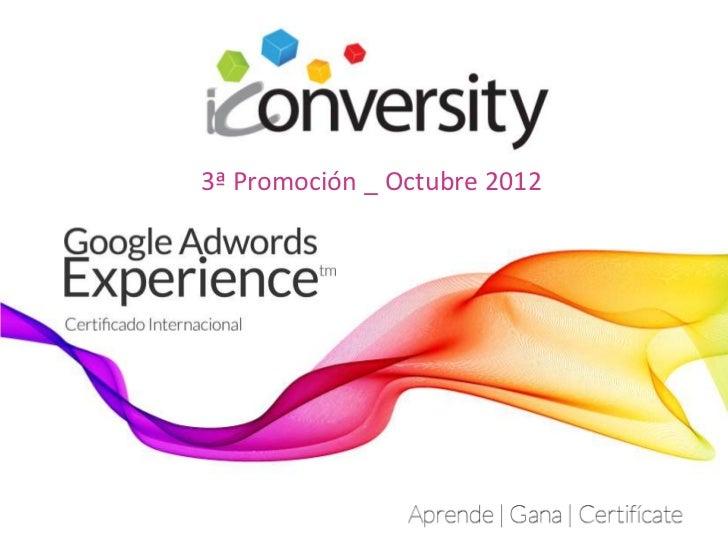 3ª Promoción _ Octubre 2012
