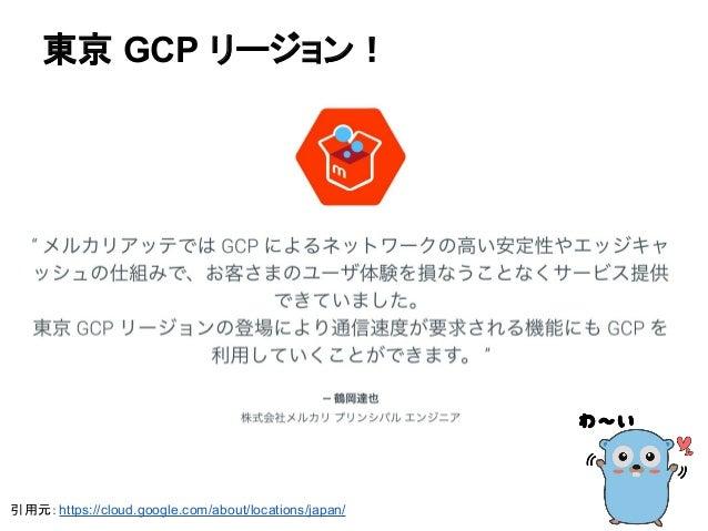 引用元:https://cloud.google.com/about/locations/japan/ 東京 GCP リージョン!