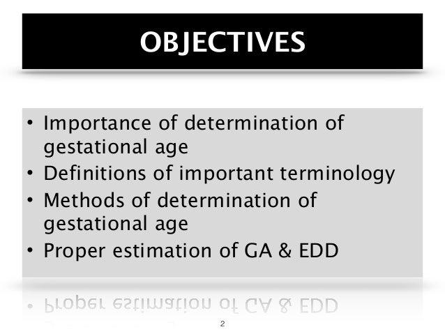 Gestational Age & EDD