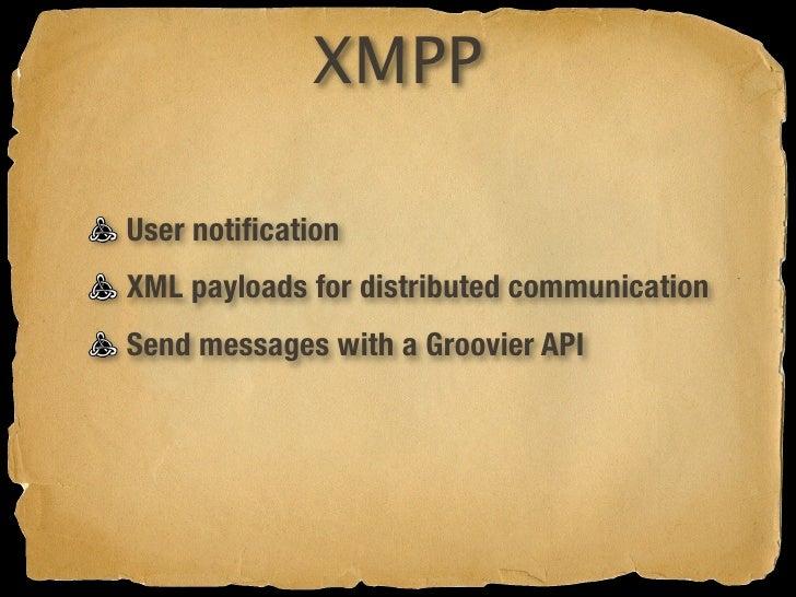 XMPP Sending         with Gaelyk