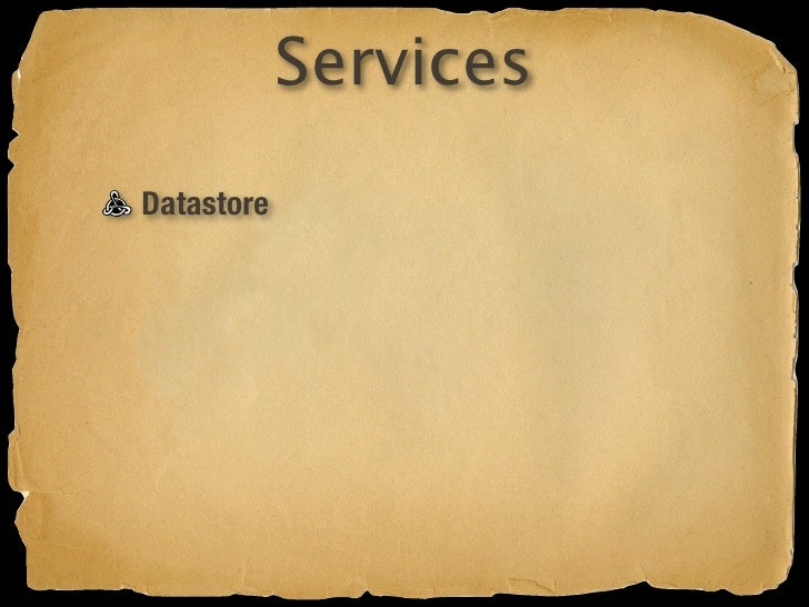 Services Datastore Authentication
