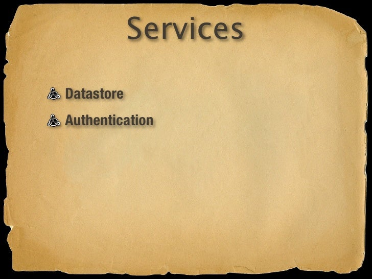 Services Datastore Authentication Caching
