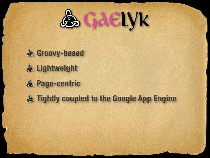 Setting up Gaelyk