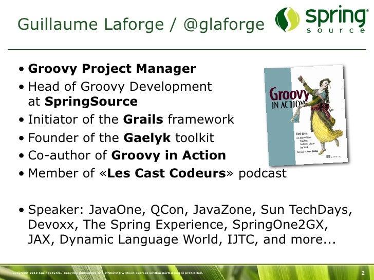 Gaelyk - Paris GGUG 2011 - Guillaume Laforge Slide 2