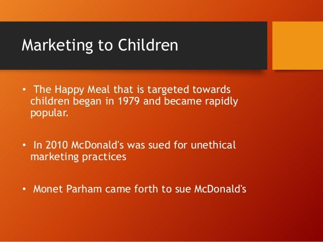 unethical mcdonald Mcdonald's: a good image with bad ethics aimee gibison introduction mcdonald's corporation has been growing and spreading internationally for the past three a clown named ronald mcdonald the unethical practices of this large fast food corporation are.