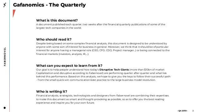 Gafanomics - Quarterly - Episode 4 (Q4FY19)  Slide 3