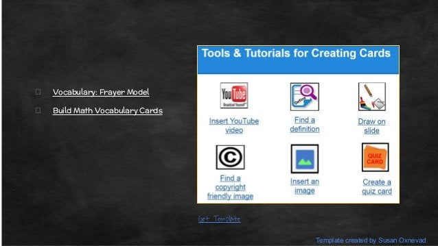 Shared GAFE Elementary Templates
