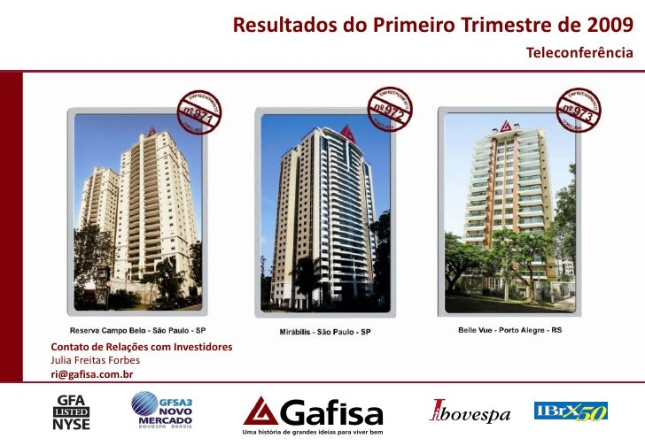 Resultados do Primeiro Trimestre de 2009                                                                     Teleconferênc...