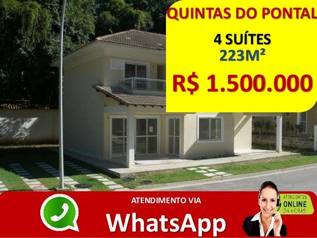 QUINTAS DO PONTAL 4 SUÍTES 223M² R$ 1.500.000 ATENDIMENTO VIA WhatsApp