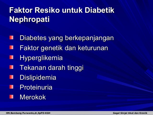 Monitoring CKD Dan DM