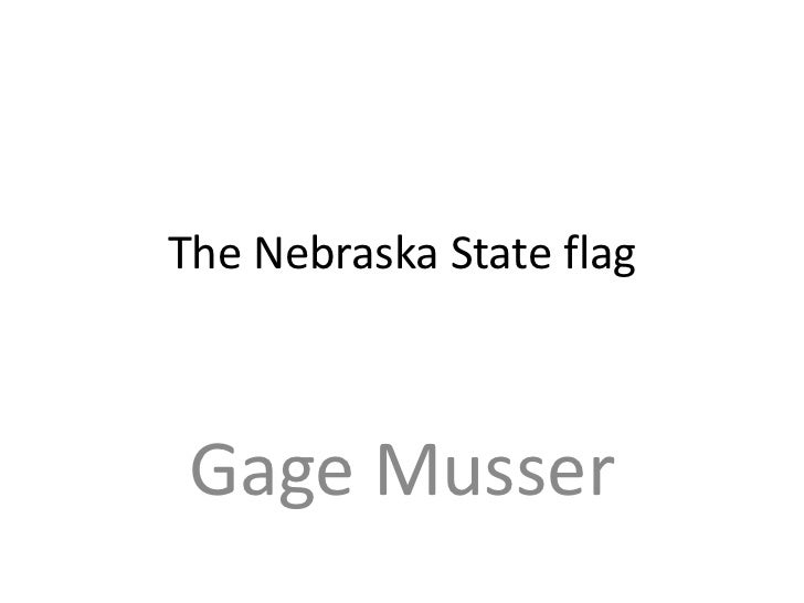 The Nebraska State flag Gage Musser