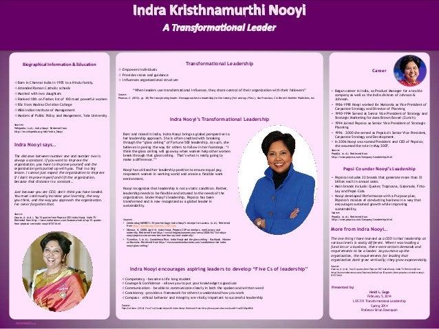 indra nooyi transformational leadership