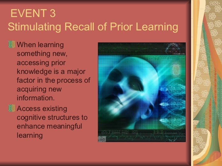 stimulating recall of prior learning
