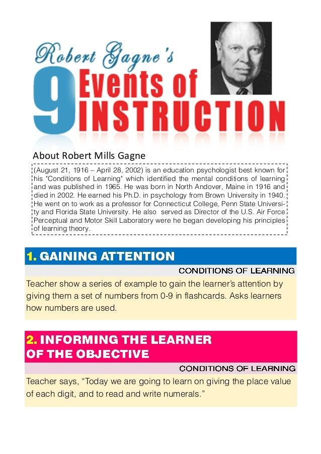 robert gagne nine events of instruction