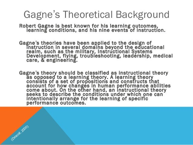 Gagnes Nine Events Of Instruction