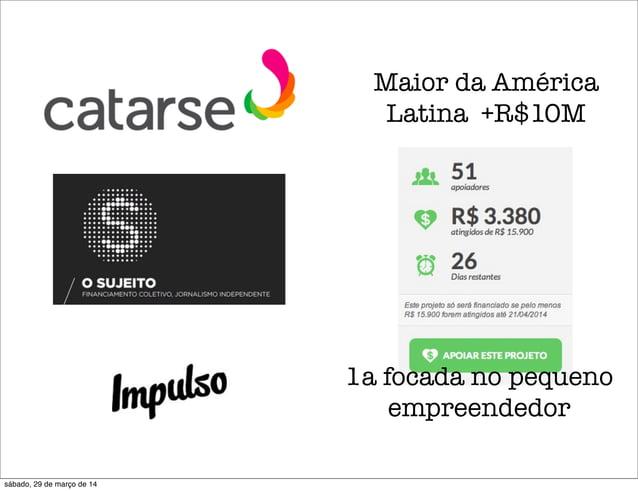 Maior da América Latina +R$10M 1a focada no pequeno empreendedor sábado, 29 de março de 14